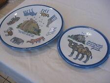 """Louisville Stoneware Noah's Ark  Dinner Plate 11"""", Camel Salad Plate Kentucky 2P"""