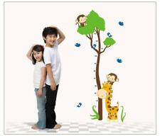 Wandtattoo Wandaufkleber Messlatte Maßstab Kinderzimmer Affe Baum Giraffe W178
