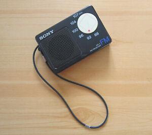 SONY ICF-1 UKW Radio FM Receiver Taschenradio Stadionradio 1985? Empfänger Tuner