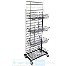 Retail Wire 4 Basket Stand Dump Bin Salesman Stand