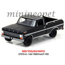GREENLIGHT 27910 A BLACK BANDIT SERIES 17 1968 FORD F-100 with BED RAIL 1/64