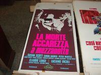 LA MORTE ACCAREZZA A MEZZANOTTE locandina originale 1972 SUSAN SCOTT