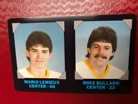 1985-86 NHL Credit Card 7-11 Pittsburgh Penguins Mario Lemieux RC & Mike Bullard