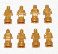 LEGO LOT OF 8 NEW PEARL GOLD STATUETTE STATUES TROPHY PIECES