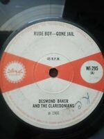 "Desmond Baker & The Claredonians-Rude Boy - Gone Jail  7"" Vinyl Single 1966"