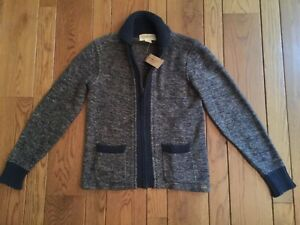 Ralph Lauren Denim & Supply Indigo Blue Shawl Collar Zip Cardigan Sweater XS NWT