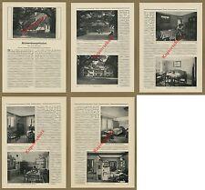 Architektur Wohnungsbau Einrichtung Dresden Georg Bähr Raumplanung Heimat 1912