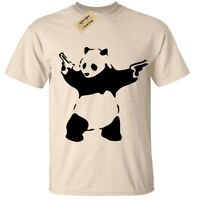 Banksy Panda T-Shirt Mens S-5XL Urban Graffiti Cool Fashion Tee Top