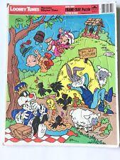 Looney Tunes Warner Brothers 1983 Large Frame Tray Puzzle Vintage Nursery Rhyme