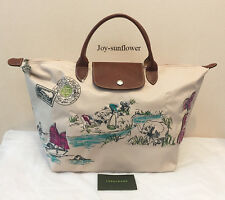 New France Longchamp Limited Le Pliage Autour de Ha Long Handbag Bag - Papier