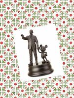 "Disney Parks Mickey Mouse & WALT Disney ""Partners"" Bronze Figure Figurine Gift"