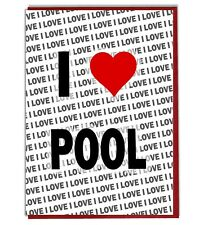 Greeting Card - Birthday Card - I Love Pool