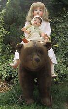 34 Inch grandi Presto orso Steiff su ruote in ghisa-RIDE lungo 1908