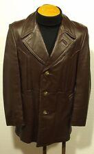 vintage 70's men's JENO DE PARIS leather jacket coat fight club pimp sz 40-42