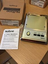 Nutone IS-319PB Outdoor Patio Intercom Speaker IM3303 IMA3303 ISA-319 Brass