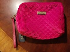 NWT Bebe Weekend Travel Organizer, Cosmetic Bag Soft Crushed Red Velvet Feel