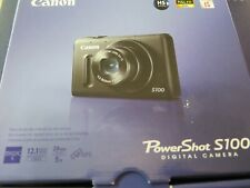 Canon PowerShot S100 12.1MP Digital Camera - Black, used under 3 MONTHS