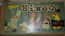 Vintage Pressman Toy Company USA Bingo Game with tin lithographed spinner