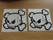 2x ken block skull stickers / skate - monster style,  car, bike, quad ,mx surf