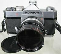 Vintage Konica Autoreflex T 35mm Film Camera With Extra Lens