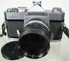 Vintage Konica Autoreflex T 35mm Film Camera With Extra Lens