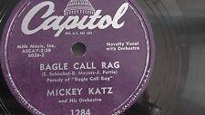 Jewish Yiddish 78rpm – Mickey Katz – Capitol #1284 Bagel Call rag