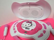 Hello Kitty Portable Karaoke Machine And Cd Player W/2 Microphones Tested Video