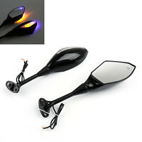Rearview Mirrors With LED Turn Signals for HONDA 03-08 CBR600RR 04-08 CBR1000RR