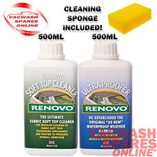 RENOVO SOFT TOP FABRIC CLEANER & ULTRA PROOFER KIT CANVAS - MOHAIR - CARS - BOAT