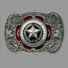 Buckle Crest Flag Star 472 Texas State Usa Belt Buckle Belt
