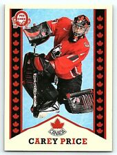2017-18 UD CANADIAN TIRE TEAM CANADA OPC RETRO CAREY PRICE Insert Card # R-7 BV