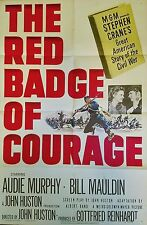 THE RED BADGE OF COURAGE (1951) AUDIE MURPHY * JOHN HUSTON CLASSIC * ORIG 1SHEET
