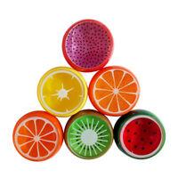 6pcs Crystal Fruit Clay Rubber Mud Intelligent Hand Gum Plasticine Slime Kid Toy