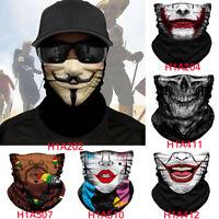 Bandana Head Face Neck Gaiter Biker Snood Tube Scarf Men Women Snood Headwear