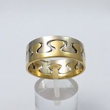 RARE ED LEVIN CUSTOM 18K AND 14K WHITE YELLOW GOLD PUZZLE BAND RING Sz 13