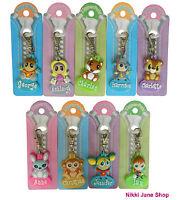 Personalised Name Zipper Pal Key Ring / Key Fob / Bag Charm - Names A ~ I - NEW