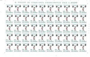 S34635 San Marino 1980 MNH Mondiale Weights 1v Full Sheet not Folded