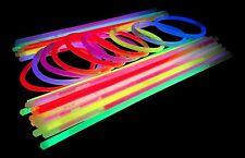 "50 x 8"" Glow Sticks in 8 Neon Colours - Bracelets, Necklaces - Party Rave Disco"