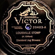 78rpm  New Orleans JUG BLOWERS 1st record-FLORIDA BLUES, LOUISVILLE STOMP SCROLL