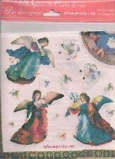 Decoupage Tissue Paper Angel Heavenly Host Scrapbooking Scrapbook Art projects