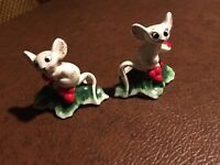 Vintage Holt Howard Mice Candle Holder 1958 Set 2 Mouse Christmas Collectible