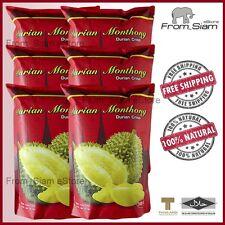 Freeze Dried DURIAN Monthong Crisp Thai Fruit Snack - 180g (6.35oz) x 6packs