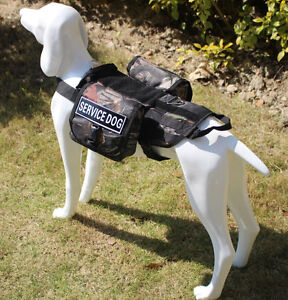 Labrador Dogs Training Servicice Dog Vest Harness Removable Pouches & Patches