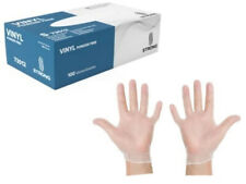 100 Count✔ Clear Vinyl Latex-Free Gloves by Strong