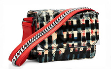 NWT Vera Bradley VB Cole Mini Shoulder Bag in Glossy Blocks with Leather Trim