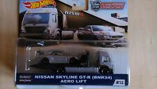 HOT WHEELS TEAM TRANSPORT #12 Nissan Skyline GT-R / Aero Lift