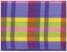 38mm Purple / Yellow Tartan Ribbon