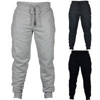 LC_ uomo alla moda colore solido coulisse Pantaloni lunghi palestra sport Tuta