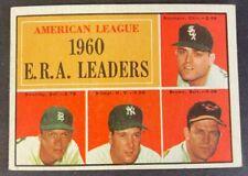 1961 Topps Baseball Card E.R.A. Leaders #46 Set Break Nrmt-Mint Range Free S&H