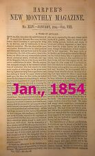 Harper's Monthly - rebound - you choose Jan., Feb., or March, 1854
